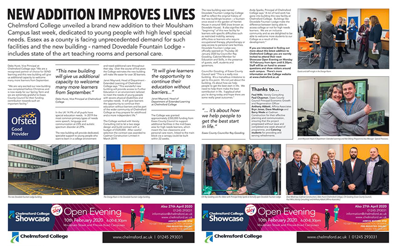 Essex Chronicle - New additions improves lives