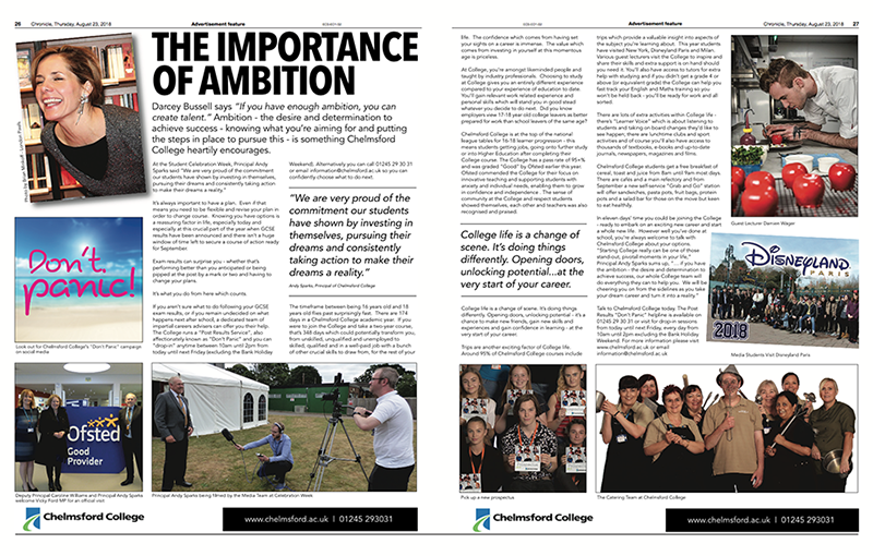 Essex Chronicle - The Importance of Ambition