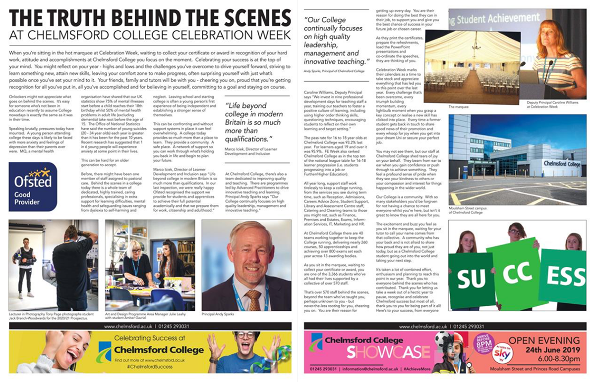 Essex Chronicle - The truth behind the scenes at Chelmsford College Celebration Week